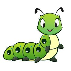 Illustration of Cartoon vector cute caterpillar vector art, clipart and stock vectors. Cartoon Drawings, Animal Drawings, Easy Drawings, Frosch Illustration, Insect Clipart, Cartoon Butterfly, Pet Rocks, Rock Design, Cute Images