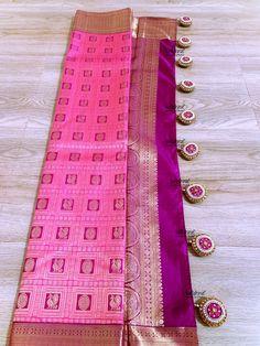 Saree Tassels Designs, Saree Kuchu Designs, Fancy Blouse Designs, Tussar Silk Saree, Kanchipuram Saree, Fashion Images, Women's Fashion, Saree Dress, Saree Wedding