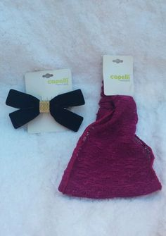 Capelli Hair Accessory Lot 2 Pieces Maroon Headband Black French Barette in Clothing, Shoes & Accessories, Women's Accessories, Hair Accessories   eBay #ebay #hairbows #accessories #christmas #gift #teengift