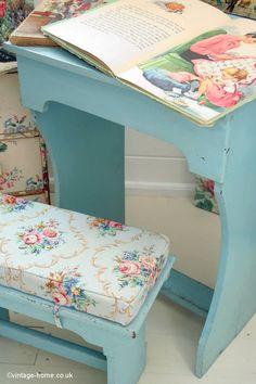 Vintage Home Shop - 1950s Children's Painted Desk and Stool: www.vintage-home.co.uk