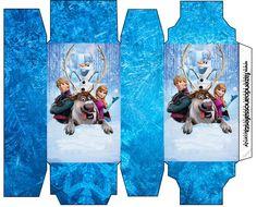 Disney Frozen Invitation Templates | Cajas de Frozen para Imprimir Gratis.