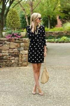 Kate Spade Dress - Steve Madden Heels - Kate Spade Bag - oversized sunglasses