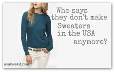 We picked a dozen sweaters we love, all American made to help you stay snuggly.@USA Love List