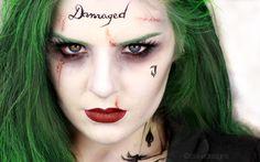 The Joker (Female version) - Suicide Squad, Jared Leto    Makeup tutoria...