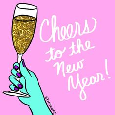 Here's to a year of happiness and glitter! Free online Cheers To The New Year ecards on New Year's Eve New Year Ecards, Welcome 2017, Happy 2017, Free Cards, Good Morning Quotes, New Years Eve, Dreads, Happy New Year, Cheers