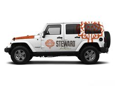 Vehicle graphic concept for Jeep. www.facebook.com/gosteward