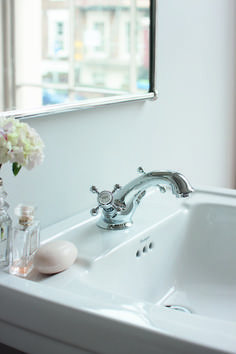 Stafford Mono Basin Mixer with Pop-up Waste (including the handles) - Basin, Burlington Bathroom, Upstairs Bathrooms, Huge Design, Hall Decor, Classy Living Room, Mirror Decor, Basin Mixer, Bathroom Design
