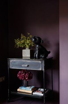 Muted Purple Wall Parlor