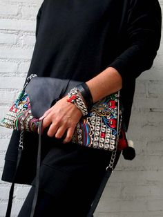 Trendy Tibet etnic boho  embrodery clutch Gyspy by Franellie 49,59 euro **free shipping** use code :franellie10