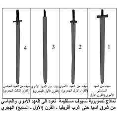 A graphic model of straight sword which dates back to the Umayyad and Abbasid era from east Asia to west Africa - - century AD . Sassanid, Muslim Culture, Swords And Daggers, Military Art, West Africa, Persian, Dates, Islamic, Curvy