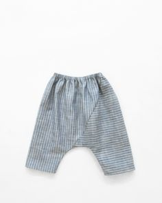 Image of pieced trousers- blue stripe