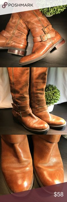 🎀Enzo Angiolini Saylem Riding Boots Brown Leather These were one of my fave boots. They are too small now. Pre loved ... lots of life left. Very comfortable and hard to find. Scuffs... gives it character or go get them shined up. Make an offer. From Pet & Smoke free home. 🐴 Enzo Angiolini Shoes