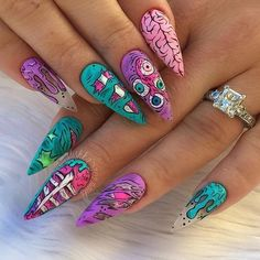 30 große Stiletto Nail Art Design-Ideen # Stilettonails – Stiletto Style Nails, You can collect images you discovered organize them, add your own ideas to your collections and share with other… Stiletto Nail Art, Cute Acrylic Nails, Stiletto Nail Designs, Coffin Nail, Nail Nail, Cool Nail Designs, Acrylic Nail Designs, Dope Nails, Fun Nails