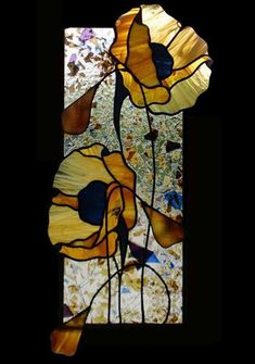 Teresa Seaton Stained Glass Gallery Florals - Gardening Go Stained Glass Flowers, Faux Stained Glass, Stained Glass Designs, Stained Glass Panels, Stained Glass Projects, Stained Glass Patterns, Leaded Glass, Mosaic Glass, Fused Glass