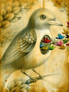 Illustrations · artist: chris buzelli here are some of his great oil paintings. Birds Painting, Animal Art, Surreal Art, Painting, Illustration Art, Surrealism, Animal Paintings, Bird Art, Love Art