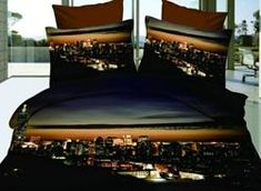 #Valentines #AdoreWe #EricDress - #EricDress Vivilinen Hot Sell Amazing Modern City Night 4 Pieces Bedding Sets - AdoreWe.com