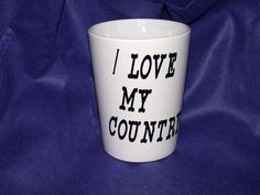 Personalized Oder Coffee Mugs  I Love My Country: Ceramic Coffee Mug by CoffeeBreakMugs. Explore more products on http://CoffeeBreakMugs.etsy.com