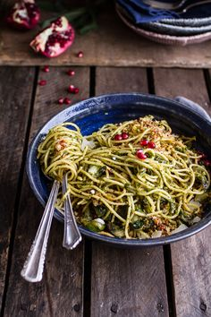 Manchego Brussels Sprout + Prosciutto Spaghetti w/Brown Butter Pistachio Pangrattato   halfbakedharvest.com @hbharvest