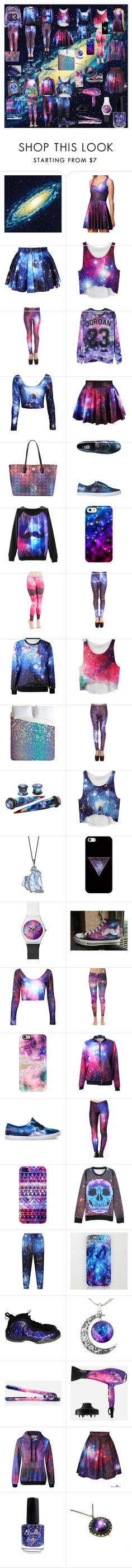 """To much galaxy <._.>"" by hollywoodactress ❤ liked on Polyvore featuring moda, Brewster Home Fashions, MCM, Vans, Uncommon, Casetify, HVBAO, Cosimia, NIKE y Eva NYC"