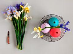El blog de Los Peñotes:  #DIY jarrones de Pascua con flor de #Iris