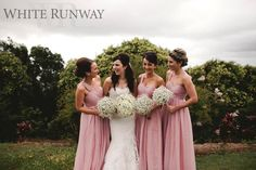 Dusty Pink Darling Dresses. Alyssa Smith's gorgeous bridesmaids wore our Darling Dress by Jadore in Dusty Pink. Styled with gorgeous baby breath bouquets. #whiterunway #bridesmaids #bridalparty #wedding #aisleperfect #bridesmaidsfashion #weddingsonpointe #whiterunway  #evening  #dress #engagement #wedding #bridesmaid  #whiterunway #realrunway #wedding #weddingfashion