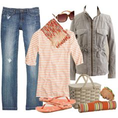 Cute & Casual....I think I might be obsessed with stripes!