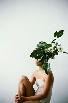 """""""For those living in the city, green spaces are a lifeline, and indoor plants can serve as a gentle reminder of the natural world."""" In conversation with botanical styling duo, Ro Co. Photography by Parker Fitzgerald. Portrait Photos, Portrait Photography, Fashion Photography, Photography Flowers, A Level Photography, Human Photography, Portrait Inspiration, Photoshoot Inspiration, Parker Fitzgerald"""