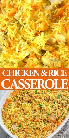 Chicken and Rice Casserole - COOKTORIA'S VIDEO RECIPES - If you are looking for a simple, yet delicious and filling chicken dinner, this Chicken Rice Cassero - Easy Casserole Recipes, Easy Dinner Recipes, Crockpot Recipes, Healthy Recipes, Healthy Soup, Dinner Crockpot, Oven Recipes, Dinner Healthy, Health Dinner
