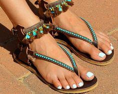 Leather Sandals Boho Sandals Summer Sandals Coachella