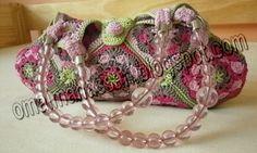 crochet kingdom (E.H): colorful granny square bag !