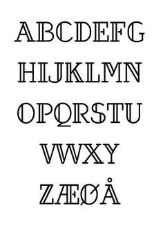 Hauk - Typeface by Jan-Christian Bruun, via Behance