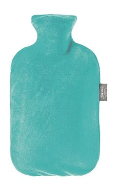 Fashy Hot Water Bottle with Velour Cover (Turquise)