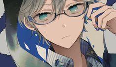 - - Please visit our website to support us! Hot Anime Boy, Anime Boys, Anime Guy Blue Hair, Cute Anime Guys, Manga Boy, Boys Glasses, Anime Guys With Glasses, Anime Cosplay, Anime Kunst