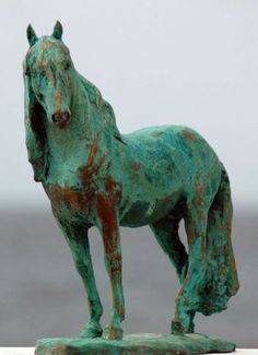 Horse and Rider/Jockey /Equestrian sculpture by artist Yanina Antsulevich titled: 'CELESTION' £3000 #sculpture #art