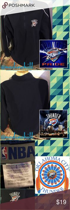 💙 USED OKC TUNDER PULLOVER FIRM PRICE 💙 💙💙 Used OKC Thunder Fleece Pullover w/a zip up feature by neck, worn a few times still in good condition. Size is a XXL in Boys number size 18, can fit men's size small number size 28-possibly 30, & Women's size X-small-Small number size 0-1. Retail value was $30 being sold as is 🚫TRADES 🚫SPAMMING Pls use offer feature to make your offer or use bundle feature to get 30% when purchasing 3+ items or more. Comes from a smoke free & pet free home…