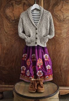 Indian skirt & classic styling