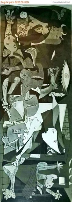 After Pablo Picasso Guernica 1937 Offset Lithograph
