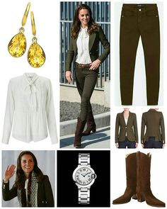◇30 September 2016◇ □ Outfit info □  The penultimate day of the Cambridges' royal tour of British Columbia and Yukon saw the Duke and Duchess travel to Haida Gwaii for a variety of engagements. The Duchess debuted a smart new Smythe blazer today. It very much looks like Kate wore the (aply named)Wool Duchess Blazer.The army green blazer features peak lapels, long sleeves with button cuffs, front button closure, chest and waist welt pockets. It retails for $595at Saks Fifth Avenue. Kate's…
