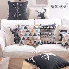 Cheap Envío gratis estilo nórdico / algodón / cojín lumbar colchón sofá simple sillas de oficina fundas de cojines, Compro Calidad Fundas de Almohada directamente de los surtidores de China:    ~~~~