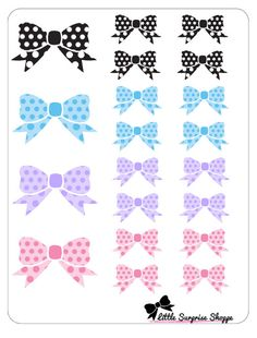 Bow Stickers by LittleSurpriseShoppe on Etsy