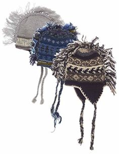 Juniors Punk Nepal Wool Hat with Mohawk, Random Set of 3 - Brought to you by Avarsha.com