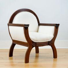 Pair of Danish Antique Art Deco Gondola Chairs, c. 1915 More Call Us Antique Furniture For Sale, Art Deco Furniture, Furniture Styles, Sofa Furniture, Furniture Design, Rustic Furniture, Muebles Art Deco, Wooden Sofa Designs, Art Deco Design