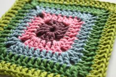 Crochet Corner: Solid Granny Square  very well written tutorial