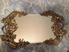 Vintage vanity tray mirror