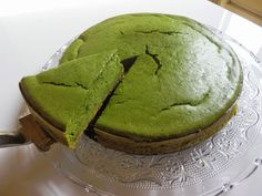 COOKING WITH JAPANESE GREEN TEA: Baked Matcha Cheesecake