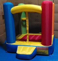 "My Bouncer Little Castle Bounce 72"" L x 72"" W x 72"" H Ball Pit Popper w/ Phthalate Free Puncture Resist Nylon Material. Rating 4.7/5 stars,115 customer reviews"