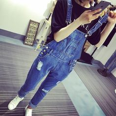 056dacab3264 2018 winter jeans overalls women sexy sleeveless knee slit back bodycon  jumpsuit holes long denim catsuit
