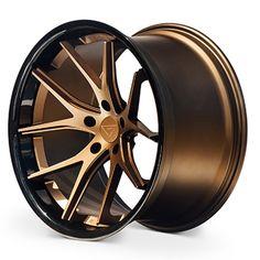 Ferrada Wheels FR2 20x10.5 5x112 et20 Matte Bronze / Gloss Black Lip C.B 66.56