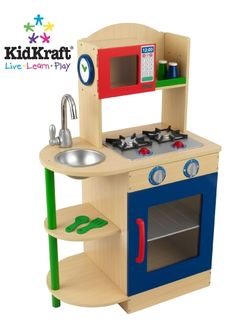 Primary Wooden Kitchen Kidkraft 53194