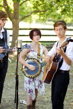 maybe some live bluegrass for cocktail hour?